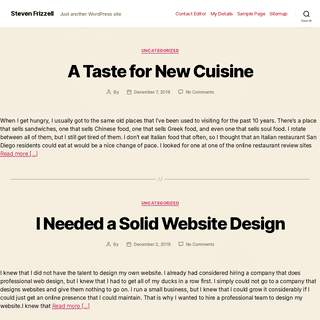 Steven Frizzell – Just another WordPress site