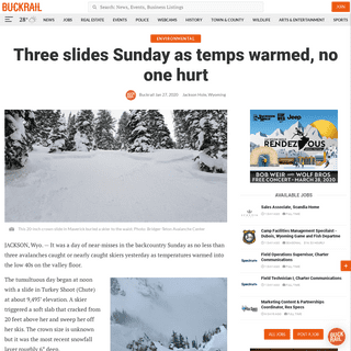 Three slides Sunday as temps warmed, no one hurt - Buckrail - Jackson Hole, news