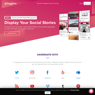 Social Media Aggregator and UGC Platform - Taggbox