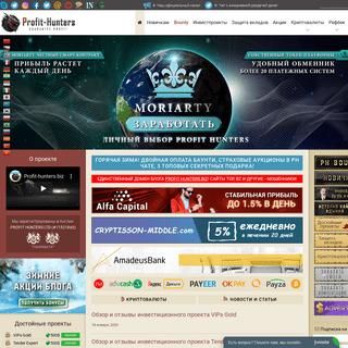 Profit-hunters.biz - первый инвестпортал рунета. Заработок онлайн, инвестиции,