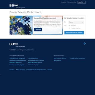 People, Process, Performance - BBVA Asset Management