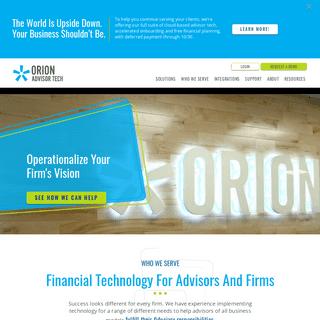 Orion Advisor Technology - Financial Technology for Advisors & Institutions
