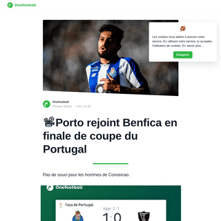 📽Porto rejoint Benfica en finale de coupe du Portugal - Onefootball Français