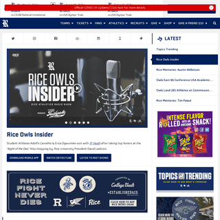 Official Athletics Page of the Rice Owls - Rice University Athletics