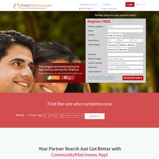Shetty Matrimony - The No. 1 Matrimony Site for Shettys - ShettyMatrimony.com
