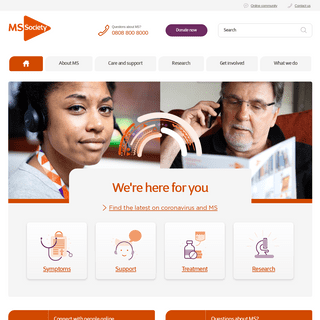 MS info, research, news and support - Multiple Sclerosis Society UK