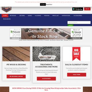 Ipe Decking Lumber Supplier - Buy Online Wholesale Price - Ipe Wood