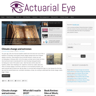 An actuarial eye on the world