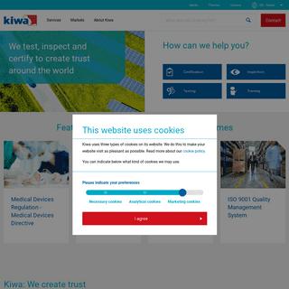 Kiwa- We create trust around the world