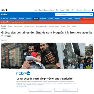 Grèce- des centaines de réfugiés sont bloqués à la frontière avec la Turquie