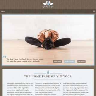 YinYoga.com - The Home Page of Yin Yoga