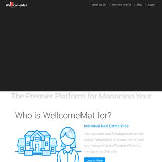Real Estate Video - Management & Marketing - WellcomeMat