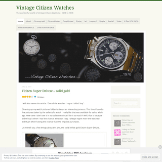 Vintage Citizen Watches – The wonderful world of Vintage Citizen Watches – 1918 to 1978