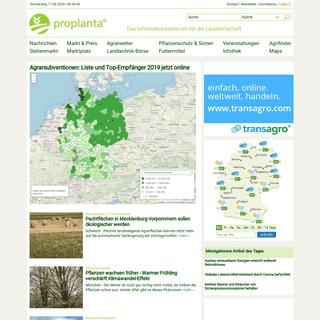 Informationszentrum für die Landwirtschaft - proplanta.de