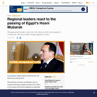 Regional leaders react to the passing of Egypt's Hosni Mubarak - News - Al Jazeera