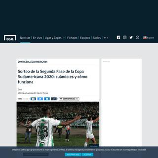 Sorteo de la Segunda Fase de la Copa Sudamericana 2020- cuándo es y cómo funciona - Goal.com