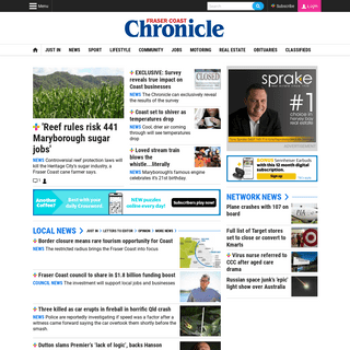 Fraser Coast news, weather, sports and classifieds - Fraser Coast Chronicle