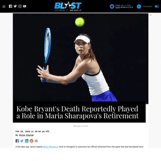 ArchiveBay.com - theblast.com/117363/kobe-bryants-death-reportedly-played-a-role-in-maria-sharapovas- - Kobe Bryant's Death Reportedly Played a Role in Maria Sharapova's Retirement