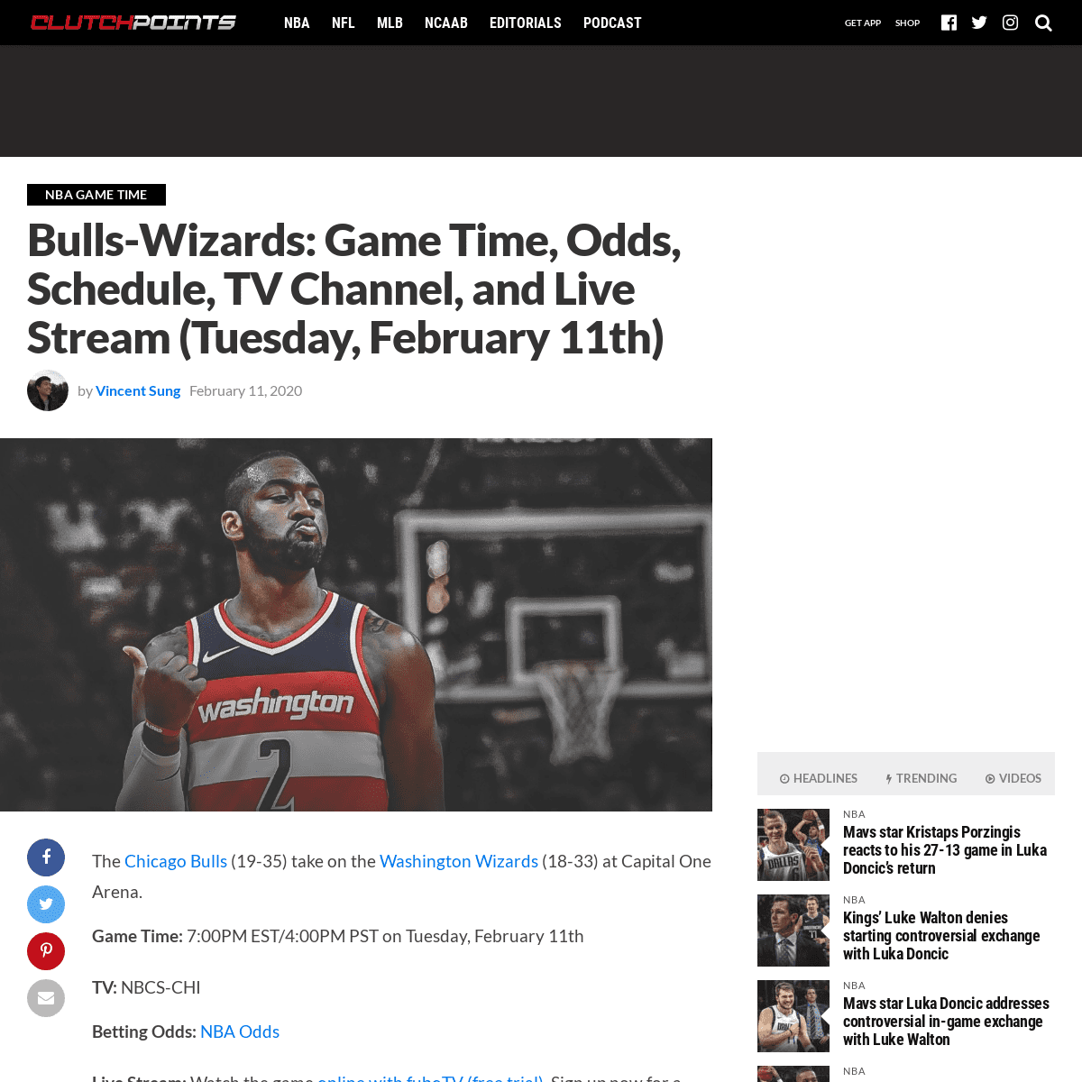 ArchiveBay.com - clutchpoints.com/bulls-wizards-game-time-odds-schedule-tv-channel-and-live-stream-tuesday-february-11th/ - Bulls-Wizards- Game Time, Odds, Schedule, TV Channel, and Live Stream (Tuesday, February 11th)