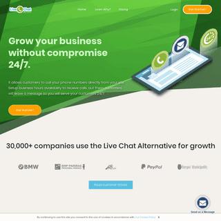 Customer Communication Software - Live Chat Alternative ™