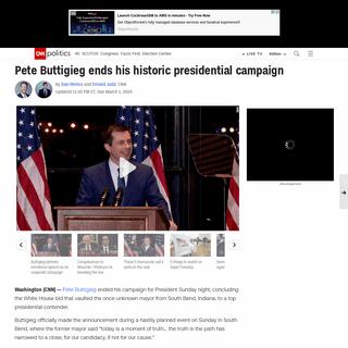Pete Buttigieg ends his historic presidential campaign - CNNPolitics