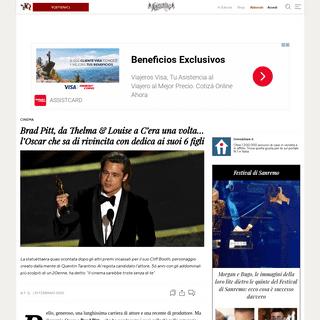 Brad Pitt, da Thelma & Louise a C'era una volta... l'Oscar che sa di rivincita con dedica ai suoi 6 figli - Il Fatto Quotidiano