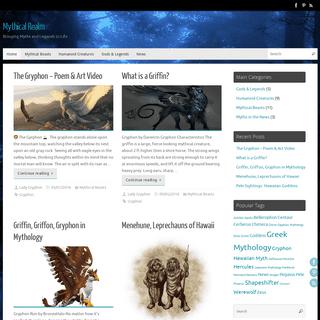 Mythical Realm- Creatures, Beasts of Myth & People of Legend & Mythology