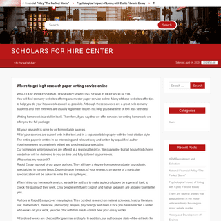 Scholars For Hire Center