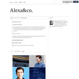A complete backup of lexasladsvh.tumblr.com