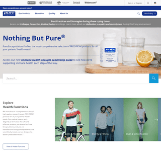 Hypoallergenic Nutritional Supplements - Pure Encapsulations