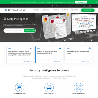 Recorded Future- Threat Intelligence Powered by Machine Learning
