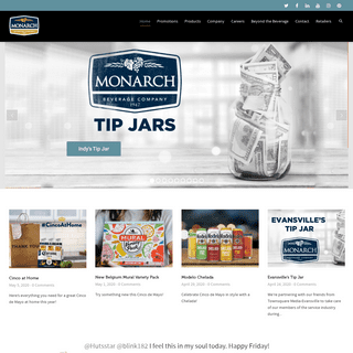 Monarch Beverage Company - Indiana Owned and Operated Since 1947