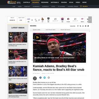 Kamiah Adams, Bradley Beal's fiance, reacts to Beal's All-Star snub - NBC Sports Washington