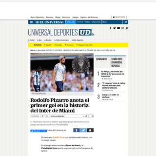 Rodolfo Pizarro anota el primer gol del Inter de Miami