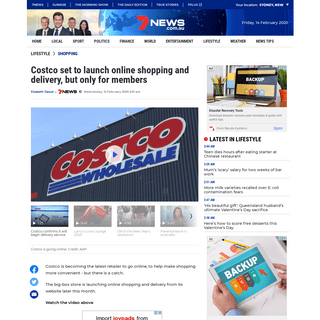 Costco set to launch online shopping and delivery, but only for members - 7NEWS.com.au