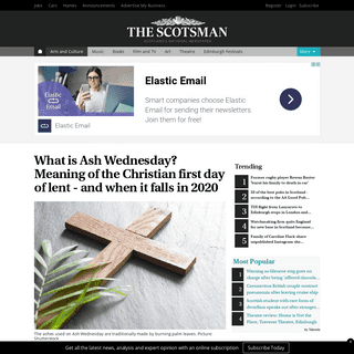 What is Ash Wednesday- Meaning of the Christian first day of lent - and when it falls in 2020 - The Scotsman