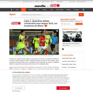 ArchiveBay.com - larochesuryon.maville.com/sport/detail_-direct.-ligue-1-nimes-angers-suivez-la-25e-journee-de-ligue-1_54135-4001648_actu.Htm - Ligue 1. Quatrième défaite consécutive pour Angers SCO, sur la pelouse de Nîmes. Sport - La Roche sur Yon.maville.com
