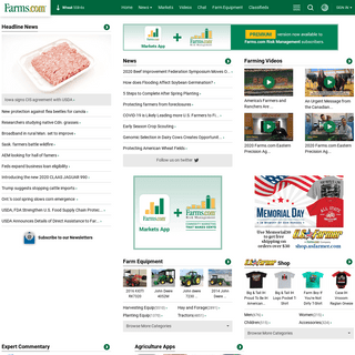 Farms.com – Latest agriculture information, farming news, commentary, weather, auctions, markets & new products portal