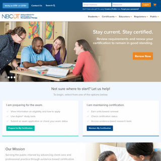 NBCOT Home Page