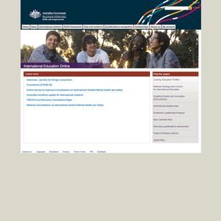 A complete backup of internationaleducation.gov.au