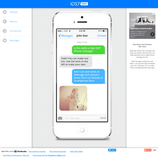 Fake iPhone iOS7 Text Messages - iOS7text.com