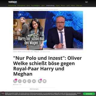 -Heute-Show- – Oliver Welke schießt gegen die Royals- -Nur Polo und Inzest- - watson