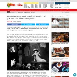 Anna May Wong là ngôi sao điện ảnh người Mỹ gốc Hoa đầu tiên của Hollywood - Cung Cầu - Cộng đồng
