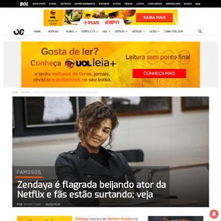 Zendaya é flagrada beijando ator da Netflix e fãs estão surtando; veja