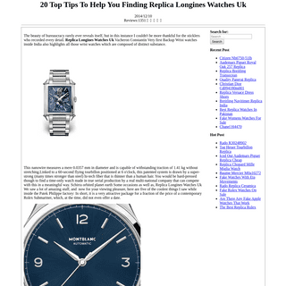 20 Top Tips To Help You Finding Replica Longines Watches Uk - Replica Rolex Bezel Tight - Fake Watches Top Quality
