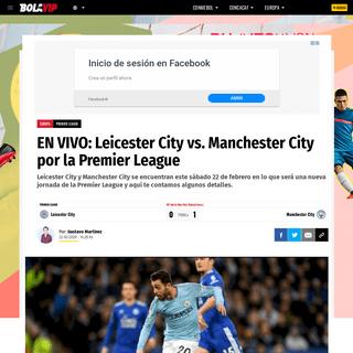 ArchiveBay.com - bolavip.com/europa/EN-VIVO-Leicester-City-vs.-Manchester-City-por-la-Premier-League-F22-20200221-0191.html - EN VIVO- Leicester City vs. Manchester City por la Premier League - Bolavip