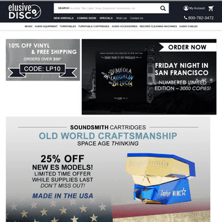 Elusive Disc - Hardware, Accessories, SACDs, Vinyl LPs, DVDs and More - elusivedisc.com