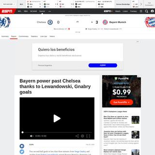 Chelsea vs. Bayern Munich - Football Match Report - February 25, 2020 - ESPN