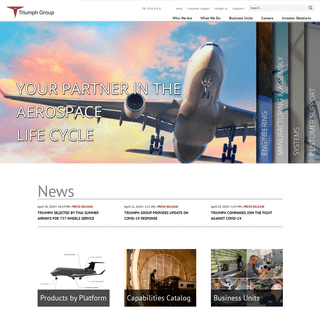 Triumph Group – A global leader in supplying and overhauling aerospace systems and components