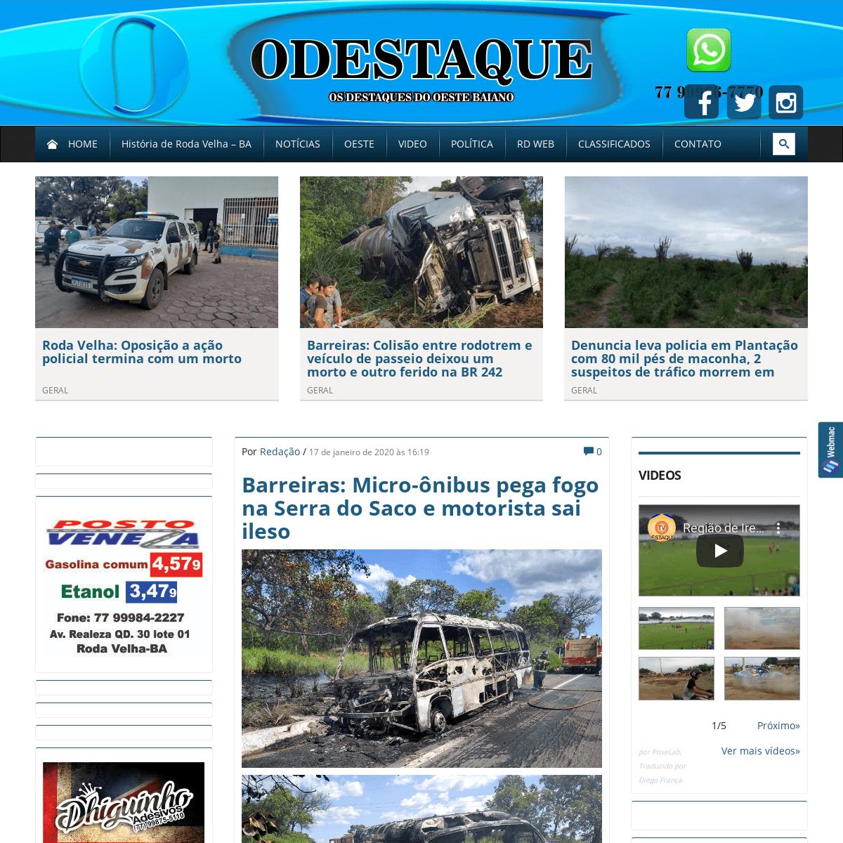 O Destak - Notícias da Região